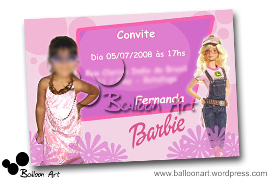 Convite Barbie 1